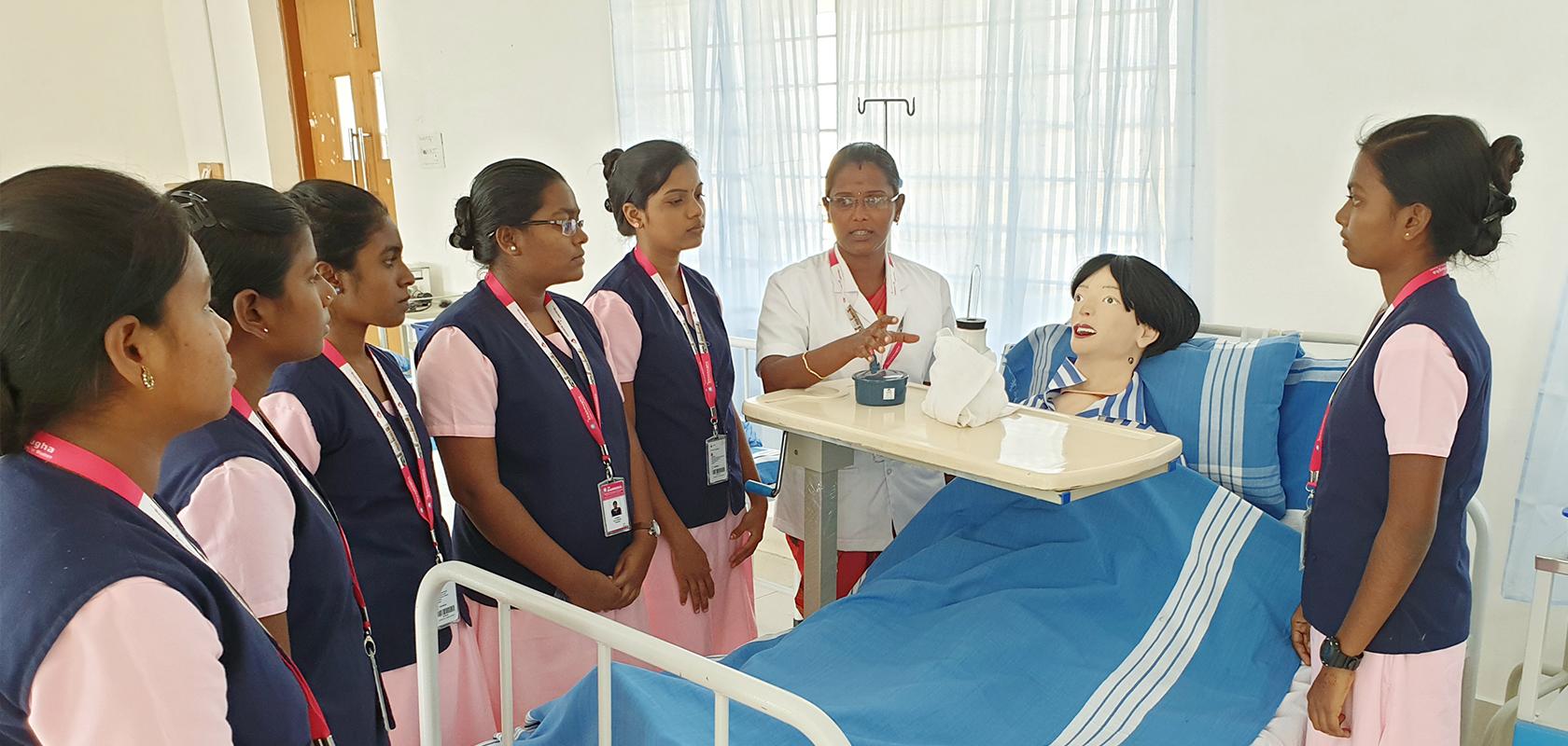 Shanmugha Nursing lab